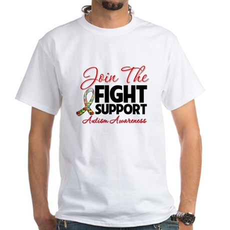 Join The Fight Autism White T-Shirt
