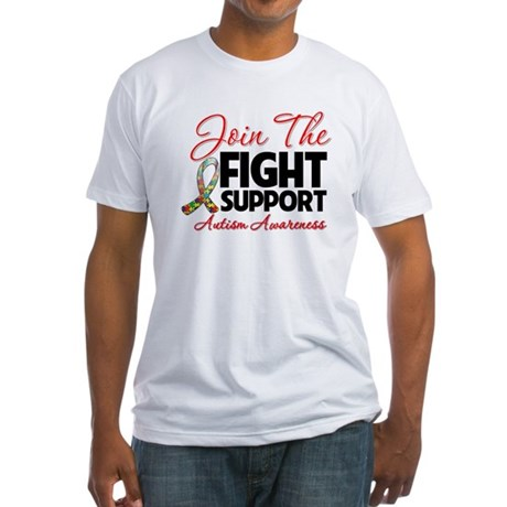 Join The Fight Autism Fitted T-Shirt