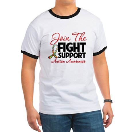 Join The Fight Autism Ringer T
