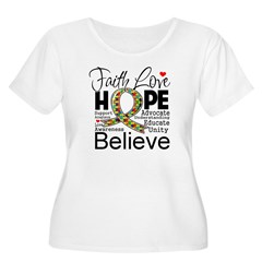 Faith Love Hope Autism Women's Plus Size Scoop Nec