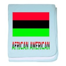 African American Flag & Words baby blanket
