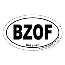 Buzz Off Oval Decal