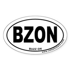 Buzz On Oval Decal