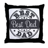 Best Dad rubber stamp Throw Pillow