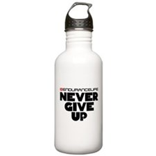 Never Give Up Merchandise Water Bottle