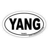 Yang Oval Decal