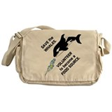 Funny Save the Whales Messenger Bag