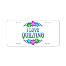 Quilting Love Aluminum License Plate