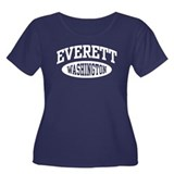 Everett Washington Women's Plus Size Scoop Neck Da