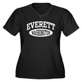 Everett Washington Women's Plus Size V-Neck Dark T