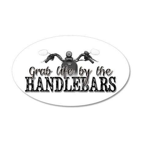 Grab Life By The Handlebars 20x12 Oval Wall Decal