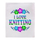 Knitting Love Throw Blanket