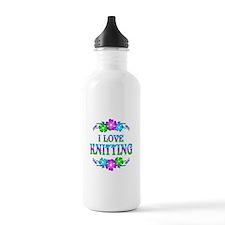 Knitting Love Water Bottle
