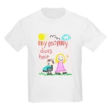 Hairstylist Mommy Kids T-Shirt