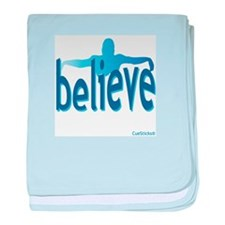 Believe Swim baby blanket