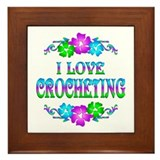 Crocheting Love Framed Tile