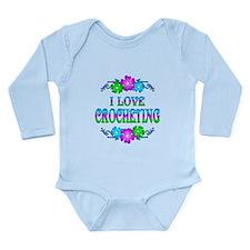 Crocheting Love Long Sleeve Infant Bodysuit