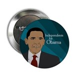 Independents for Obama political button