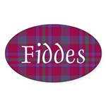 Tartan - Fiddes Sticker (Oval 10 pk)