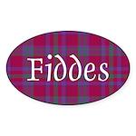Tartan - Fiddes Sticker (Oval 10 pk)