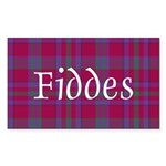 Tartan - Fiddes Sticker (Rectangle 50 pk)
