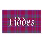 Tartan - Fiddes Sticker (Rectangle 50 pk)