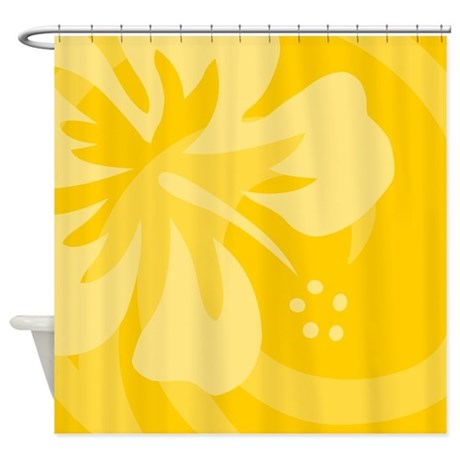 Hibiscus Yellow Shower Curtain by srfboystore