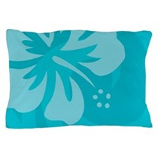 Hibiscus Light Blue Pillow Case
