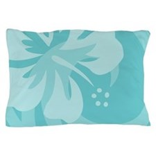Hibiscus Aqua Pillow Case
