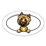 Cairn Terrier Peeking Bumper Decal