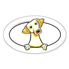 Yellow Lab Peeking Bumper Decal