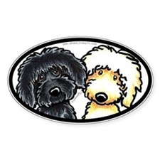 Black n Yellow Labradoodles Bumper Decal