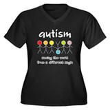Autism Angle Women's Plus Size V-Neck Dark T-Shirt