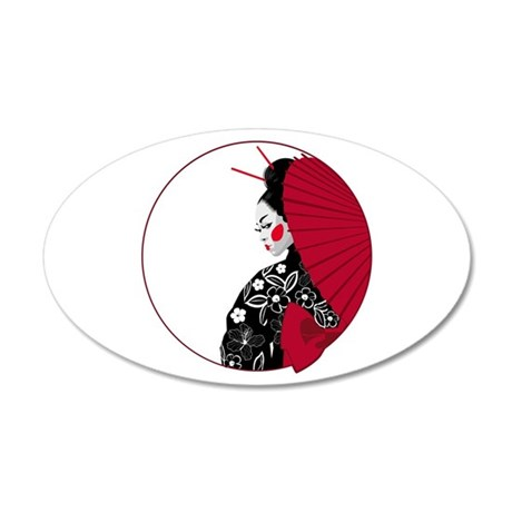 Geisha 22x14 Oval Wall Peel