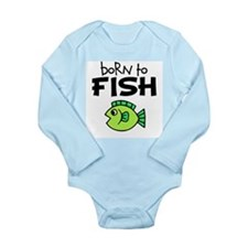 Born to Fish Long Sleeve Infant Bodysuit