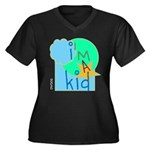 OYOOS i'm a kid design Women's Plus Size V-Neck Da