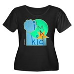 OYOOS i'm a kid design Women's Plus Size Scoop Nec