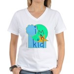 OYOOS i'm a kid design Women's V-Neck T-Shirt