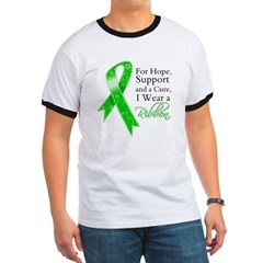 Hope Cure Green Ribbon Ringer T