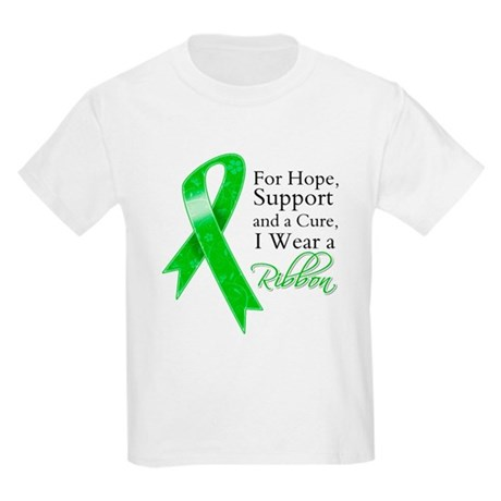 Hope Cure Green Ribbon Kids Light T-Shirt