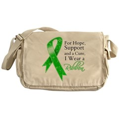 Hope Cure Green Ribbon Messenger Bag