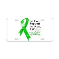 Hope Cure Green Ribbon Aluminum License Plate