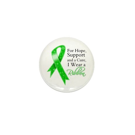 Hope Cure Green Ribbon Mini Button