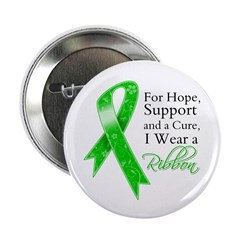"Hope Cure Green Ribbon 2.25"" Button (10 pack)"