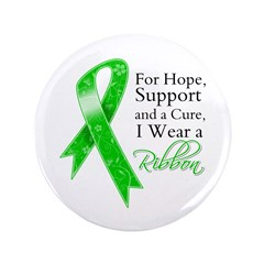 "Hope Cure Green Ribbon 3.5"" Button"