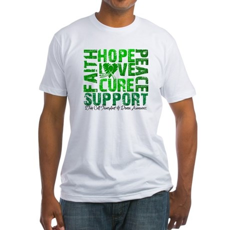 Hope Cure Faith SCT Fitted T-Shirt