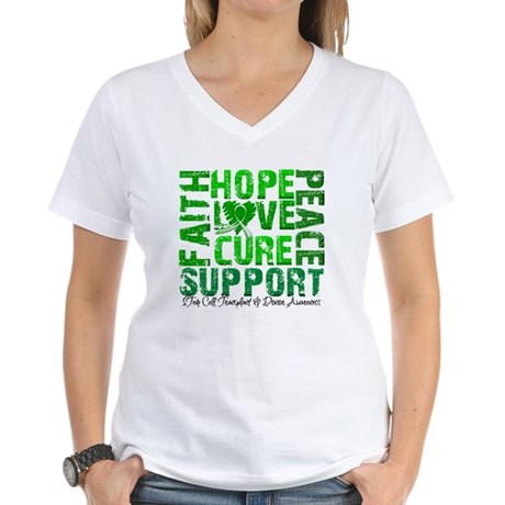 Hope Cure Faith SCT Women's V-Neck T-Shirt