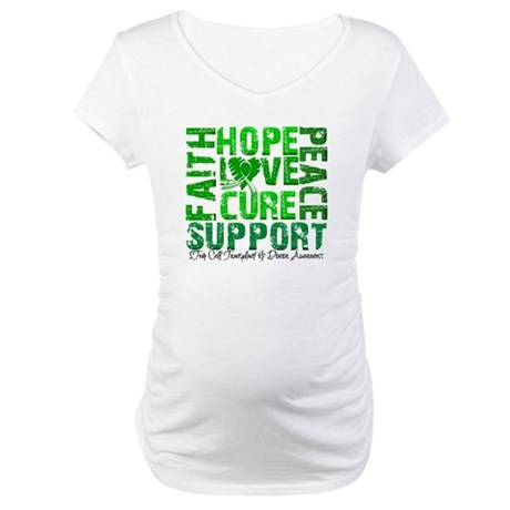 Hope Cure Faith SCT Maternity T-Shirt