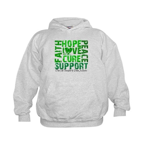 Hope Cure Faith SCT Kids Hoodie