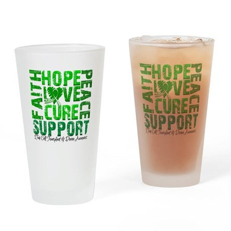 Hope Cure Faith SCT Drinking Glass